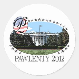 Pawlenty White House 2012 Round Stickers