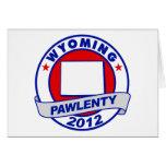 Pawlenty - Wyoming Tarjeton
