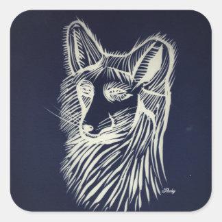 pawley night fox sticker