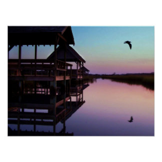 Pawleys Island Creek Sunset Poster