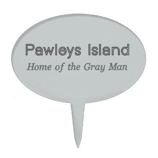 Pawleys Island Gray Man Cake Topper