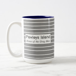 Pawleys Island Gray Man Stripes Two-Tone Coffee Mug
