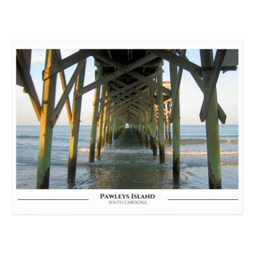 Beach Themed Pawleys Island- South Carolina Postcard