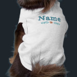 """Pawlicious Shirt<br><div class=""""desc"""">This original paw and scroll design is customizable to include your pet&#39;s actual name.</div>"""