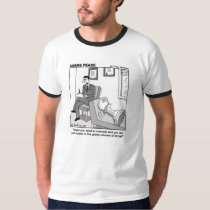 """Pawn and psychiatirst"" Chess Peace cartoon T-Shirt"