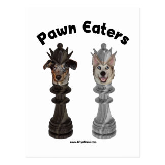 Pawn Eaters Chess Dogs Postcard