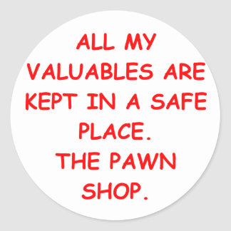 PAWN.png Classic Round Sticker