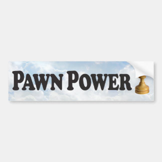 Pawn Power with Pawn - Bumper Sticker