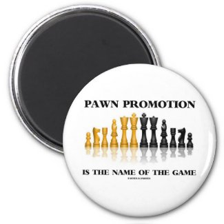 Pawn Promotion Is The Name Of The Game (Chess) Refrigerator Magnets