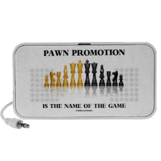 Pawn Promotion Is The Name Of The Game iPod Speakers