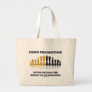 Pawn Promotion Often Decides The Result Endgame Large Tote Bag