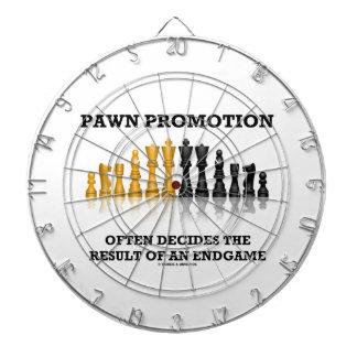 Pawn Promotion Often Decides The Result Of Endgame Dartboard