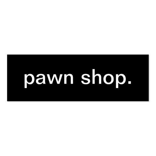 Pawn Shop Business Card