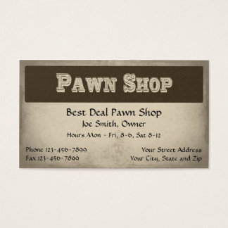 Pawn Shop Business Card