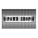 Pawn Shop Metal Look Business Card