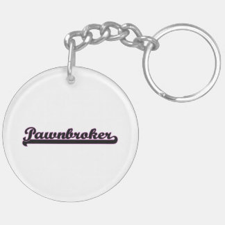 Pawnbroker Classic Job Design Double-Sided Round Acrylic Keychain