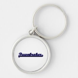 Pawnbroker Classic Job Design Silver-Colored Round Keychain