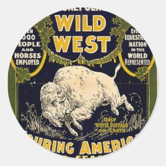 Pawnee Bill Shows Wild West Classic Round Sticker
