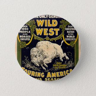 Pawnee Bill Shows Wild West Pinback Button