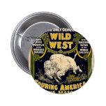 Pawnee Bill Shows Wild West Pinback Buttons