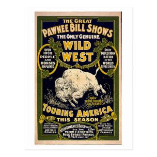 Pawnee Bill Shows Wild West Postcard