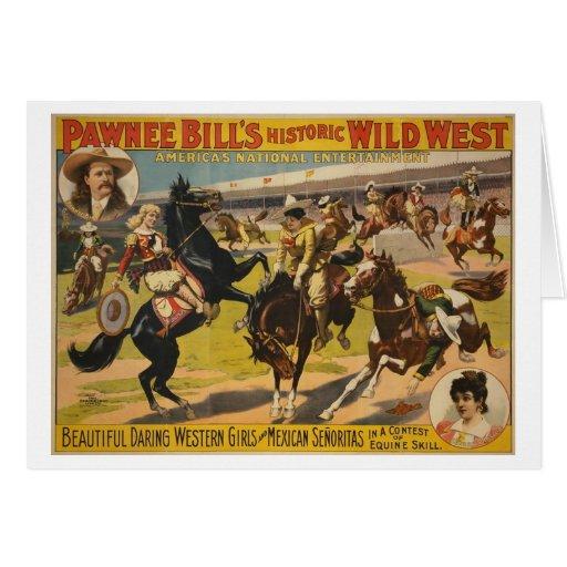 Pawnee Bill Wild West Show Greeting Cards