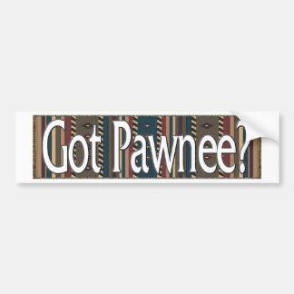 Pawnee Etiqueta De Parachoque