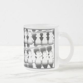 Pawns (white on black) - mug