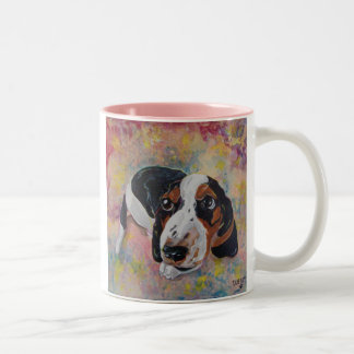 PAWP-ART Basset Hound puppy mug
