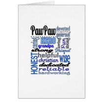 Pawpaw Fathers day strong loyal Grandpa Papa Card