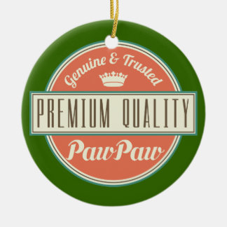 Pawpaw (Funny) Gift Double-Sided Ceramic Round Christmas Ornament