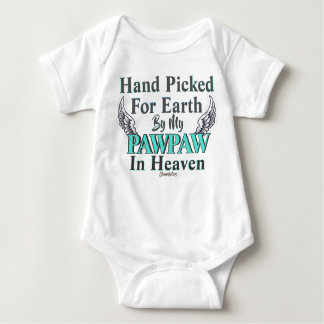 PAWPAW IN HEAVEN BABY OUTFIT TEAL HANDPICKED BABY BODYSUIT