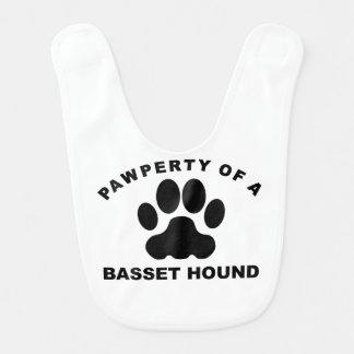 Pawperty de Basset Hound Baberos Para Bebé