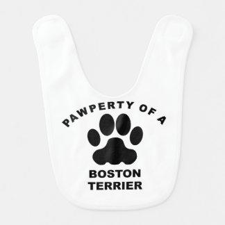 Pawperty de una Boston Terrier Baberos Para Bebé