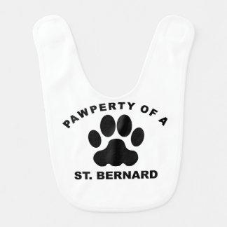 Pawperty Of A St. Bernard Baby Bibs