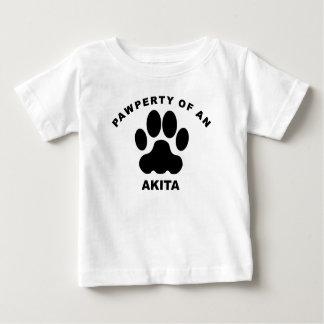 Pawperty Of An Akita Baby T-Shirt