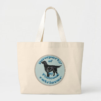 """""""Pawperty"""" of my Flatcoat Retriever Large Tote Bag"""