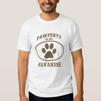 Pawperty of my Havanese T-shirt