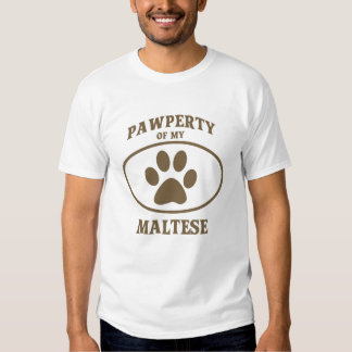 Pawperty of my Maltese T-shirt