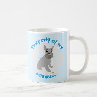 Pawperty of My Schnauzer Coffee Mug