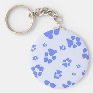 Pawprint azul llaveros