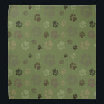 """Pawprint Camoflage Bandana<br><div class=""""desc"""">Show your own allegiance to your furry friends or accessorise your pet with pawprints arranged in a camouflage pattern!</div>"""
