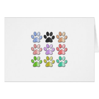 Pawprint card