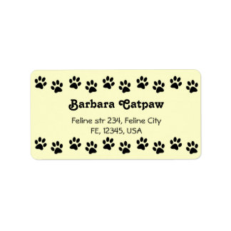 Pawprint custom address lables Paw print Label