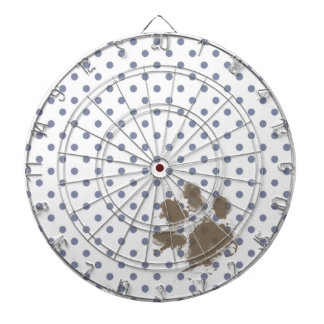 Pawprint divertido en lunares grises frescos