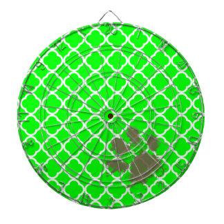 Pawprint divertido en Quatrefoil verde eléctrico