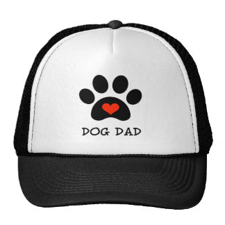 Pawprint Dog Dad Trucker Hat