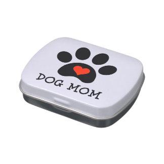Pawprint Dog Mom Jelly Belly Tin
