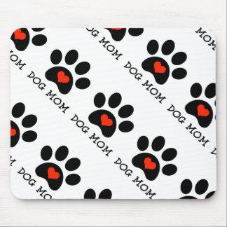 Pawprint Dog Mom Mouse Pad