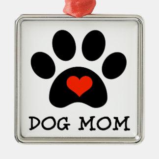 Pawprint Dog Mom Ornament